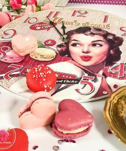 Macaron Rose Herz